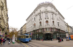 THE SEAT OF THE SRPSKA BANKA on the corner of Jurisiceva and Petrinjska streets in Zagreb is nowadays the administrative building of the Hrvatska postanska banka (Croatian Postal Bank)